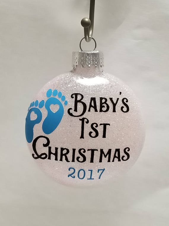 Baby's First Christmas Ornament - Glitter Ornament - Baby Glitter Ornament - Keepsake Ornament - Baby Christmas Ornament - Baby Gift