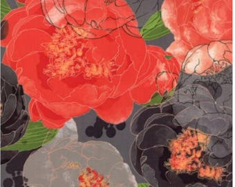 Blushing Peonies by Robin Pickens for Moda 48610 18 Charcol
