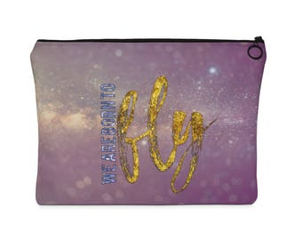 Born To Fly Carry All Pouch  Flat