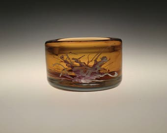 Bohemian Czech Sommerso  Art Glass Bowl by Petr Hora for Skrdlovice
