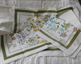 3 Vintage Pillowcases by Percale
