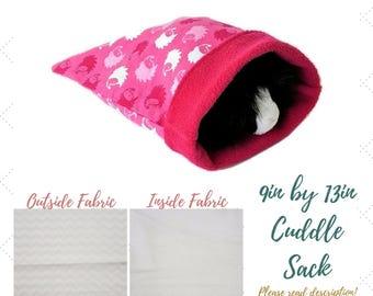 Small Animal - Cuddle Sack - Snuggle Sack - Guinea Pig - Hedgehog - Bonding Pouch - Bonding Bag - Cuddle Pouch - Snuggle Pouch - Fleece Bag