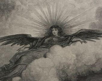 1884 The Raven By Edgar Allen Poe Original Gustave Dore #DorePoe11
