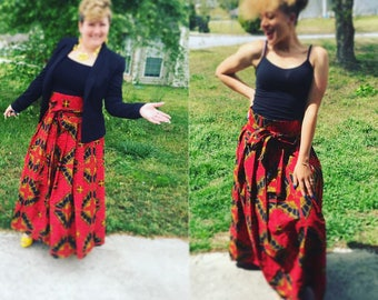 Mighty Mom and Ermani rocked this beautiful African Maxi Skirt 100% CT African Fabric. Pick your print and rock your skirt ....