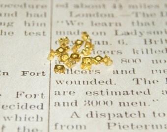 Gold 20 caps / push for 5mm earrings