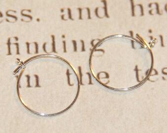 Small hoop earrings in silver plated 12mm