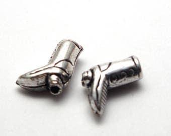 2 pearls silver cowboy boot 925/1000 11x9x4mm