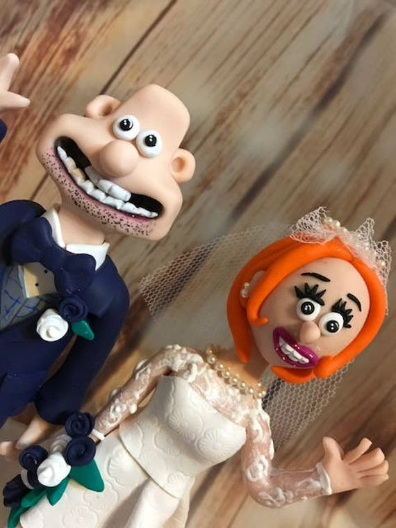 Wedding cake Topper Wallace and Gromit Wedding Fully Personalised a lovely keepsake - Bride and Groom/Same Sex/Wedding couple