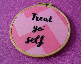 Treat Yo Self Parks and Recreation, Leslie Knope Embroidery