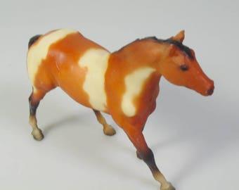1980s Vintage Breyer Quarter Horse Stallion figure Bay tobliano pinto horse Paddock pals plastic toy horse equestrian cake topper