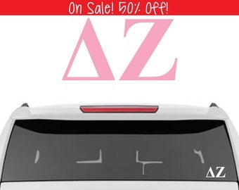 50% OFF!  Delta Zeta Decal | DZ Decal | Sorority Car Decals, Sorority Vinyl Decal, Sorority Laptop Decal, Sorority Decal