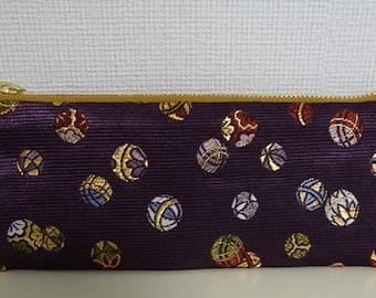 Japanese pencilcase,,Japanese textiles,Nishijin brocade