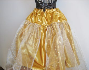 4-6 years old girl costume / tutu skirt from the Sun for the little fairy / skirt of taffeta and organza with gold stars Princess