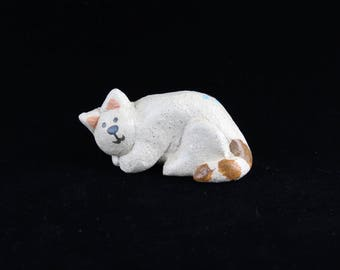 Ceramic Cat, Handmade Kitty, Mica Clay by Arizona Artist, Karlene Voepel