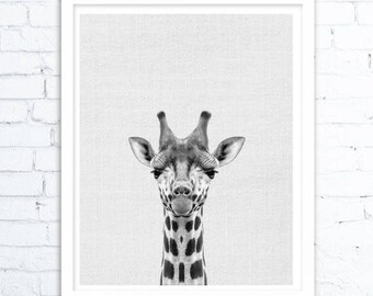 Giraffe Wall Art, Giraffe Print, Nursery Decor, Nursery Animal Print, Safari Nursery Art, Nursery Printable, Nursery Wall Art, Giraffe photo