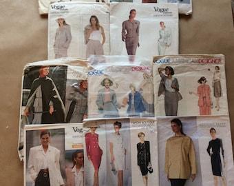 10 Vintage Vogue American Designer Sewing Patterns