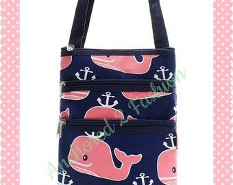 3 zipper messenger bag