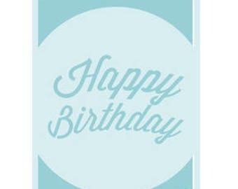 Happy Birthday Card , Blank Inside , Blue , Yellow , Pink , Mint , PaperCut , Free Confetti , Men , Women , Kids , Teens