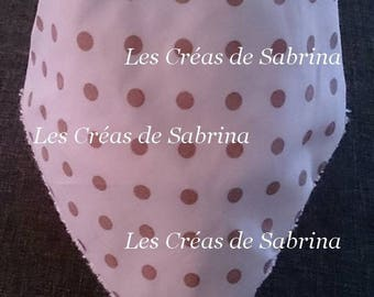 Bib bandana with Brown dots 0-24 months