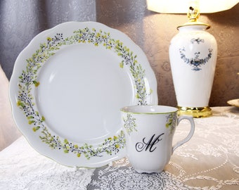 VSC Hand Painted Customized Dinner Plate and Mug Set
