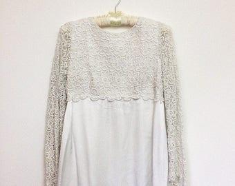 Vintage Wedding Dress, Bridal Dress, 1960s Dress, Boho Wedding Dress, 60s Bridal Dress, XS-S