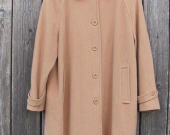20% OFF Vintage Overcoat; Long Women's Coat; Oversized Wool Overcoat; Classics Beige Coat; Large Wool & Cashmere Coat; Raglan sleeve Coat si