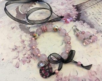 set romantic soft pink