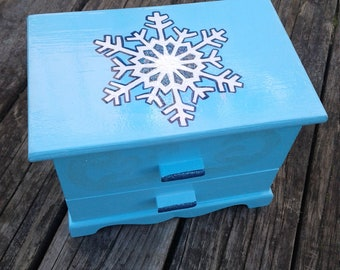 Sparkling Winter Miniature Dresser