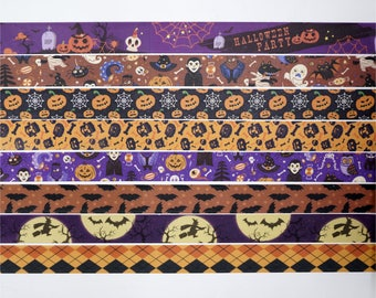 SALE!! Halloween Washi Tape/Deco Masking Tape/Planner Sticker/ Deco tape TZ2250