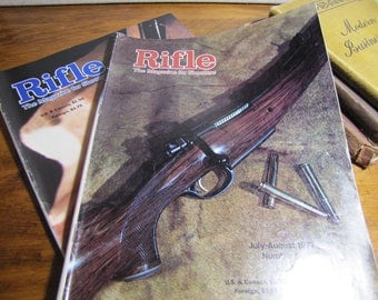 Two (2) Vintage Magazines - Rifle - The Magazine for Shooters - 1978 and 1979