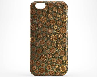 Gold Flower iPhone 8 Case Style iPhone X Case Floral iPhone 7 Case iPhone 8 Plus iPhone 6 Plus Case iPhone 5 iPhone SE Case Galaxy S8 Plus