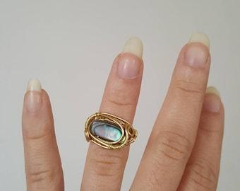 Abalone ring size 4