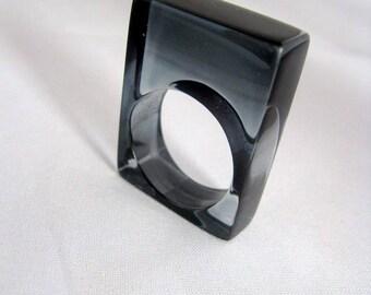 Rectangular ring resin flowers