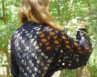 Women's long-sleeved bolero / made by hand with two needles