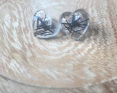 Horse Hair Resin Earrings Silver Horse Hair Jewellery