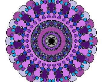 Mandala Coloring Book 10 Pages,Coloring Book,Mandala Coloring,Adult Coloring Book,Digital Download Coloring Book,Coloring Download,Design