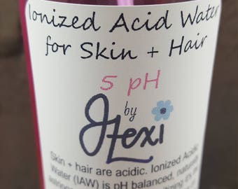 Ionized Acid Water, Hair Water,Acid Water, Beauty Water, acid rinse, hydrating water, natural hair, twistouts, hair, pH balanced, 5 pH
