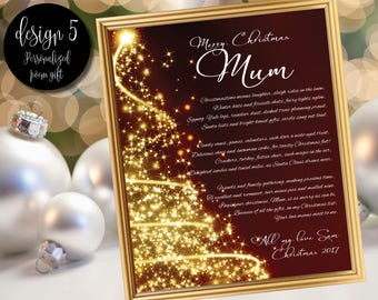 Christmas poem gift for Mum / Gift for Mom / Mum gift / Personalized Mother poem gift / Mum gift / Mom gifts / Mum gifts / Mother / Mom gift
