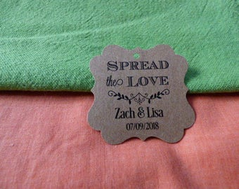 KRAFT Spread the Love Tags. Personalized Favor Tags. Jam Wedding Favor Tags. Jam Labels. Kraft Jam Labels. Set of 25 to 300 pieces