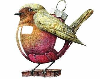 Christmascard Robin