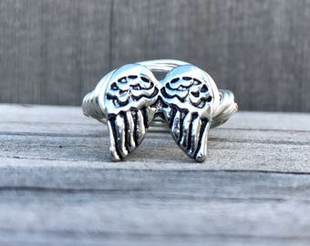 Wire Wrapped Angel's Wings Ring