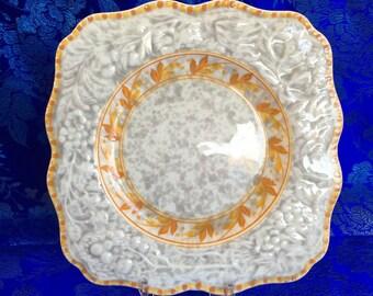 """Antique Art Deco Crown Ducal 9"""" Decorative Serving Plate"""