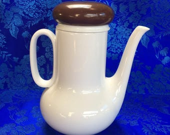 Vintage Thomas Rosenthal Germany Porcelain White Teapot