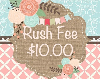RUSH FEE ships in 2-4 Business Days