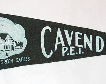 1950s-'60s era souvenir felt pennant from Cavendish PEI home of Anne of Green Gables — Free Shipping!