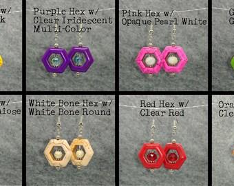 Design Your Own Hexagon Earrings