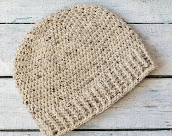 Men's Beanie Pattern, Salt of the Earth Beanie, Crochet Hat Pattern, Crochet Beanie Pattern, Hat Crochet Pattern