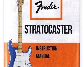 Vintage Fender Stratocaster Guitar Instruction Manual FRIDGE MAGNET Strat