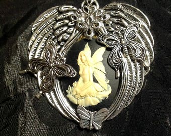 Steampunk Angel/Fairy Brooch