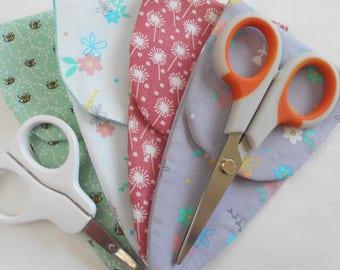 Scissor keeper-Scissor holder-Sewists gift-Sewing storage-Stocking filler-Nail scissor pouch